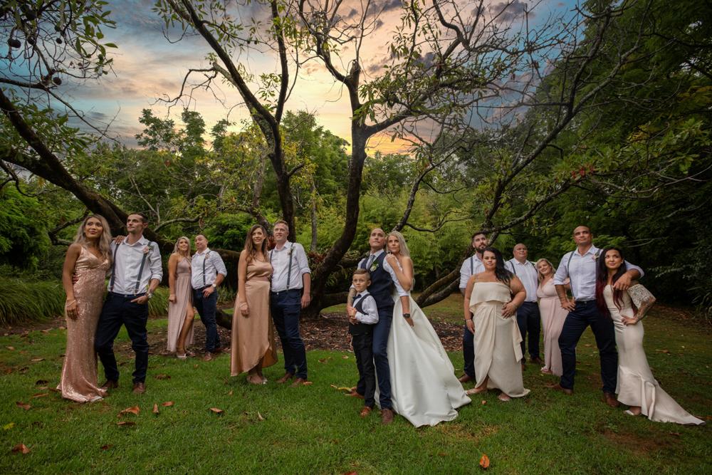 Bridal party sunset at Black Walnut