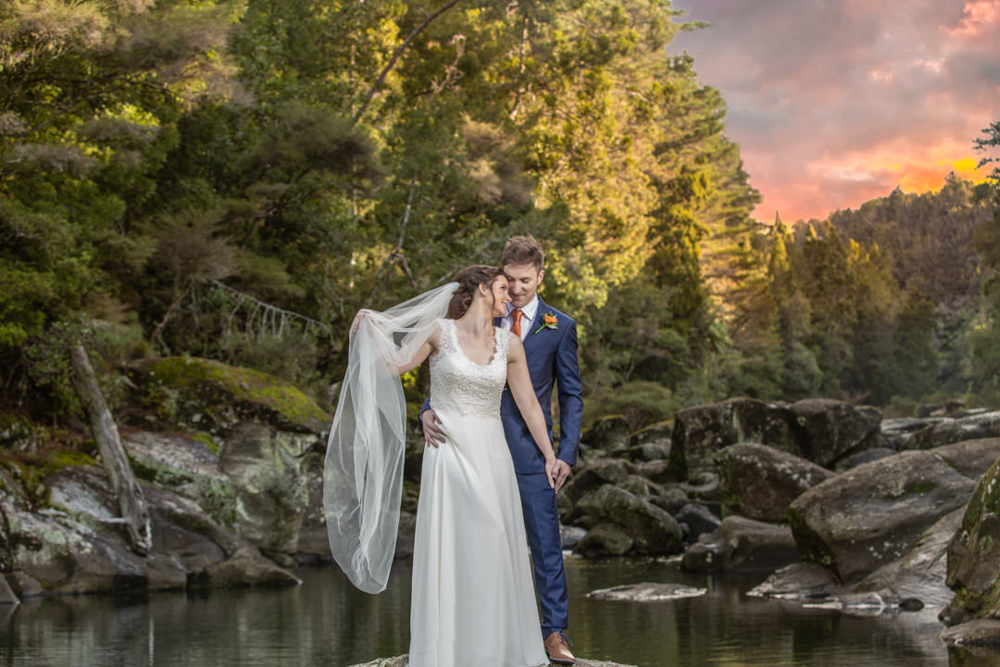 Bride and Groom in the wilderness